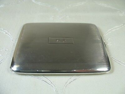 Art Deco Sterling Silver Cigarette Case  Beautiful Gilt Engine Turning Inside