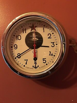 Russian Submarine Clock with Original Russian acceptance papers