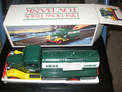 VINTAGE 1983 HESS GASOLINE TANKER TOY THE FIRST HESS TRUCK complete with box