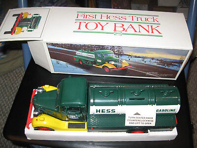 VINTAGE 1983 HESS GASOLINE TANKER TOY THE FIRST HESS TRUCK comlete with box