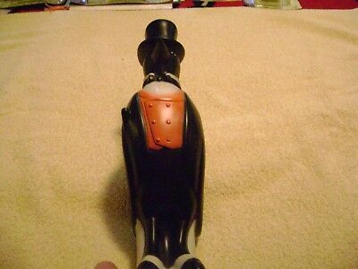 "1- 13 1/2"" Rubber ""OLD CROW ADVERTISING FIGURE"" w/stamped markings."