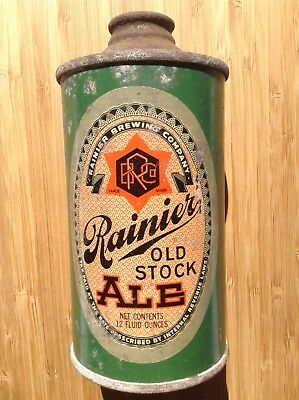 Rainier Old Stock Ale-Cone Top Beer Can-IRTP-San Francisco-Dated 10/28/39-*L@@K*
