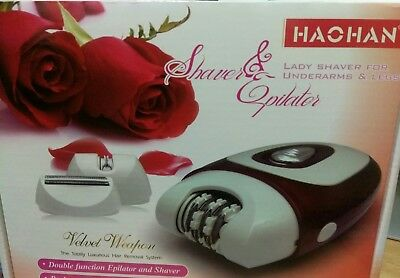 Women Lady 2 in 1 Electric Rechargeable Cordless Epilator & Shaver Hair Remover