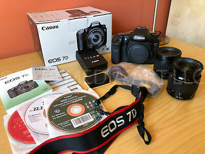 Canon EOS 7D 18.0MP Digital SLR Camera - with 2 lenses bundle
