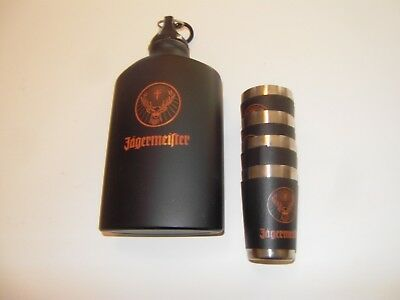 Jagermeister flask and 4 shot glasses!