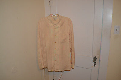 Tommy Bahama Mens Stripe Tencel Lyocell Shirt Extremely Nice! Size Large