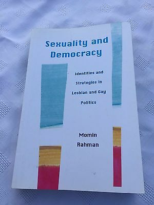 """(W) 2000 """"sexuality And Democracy"""" Lesbian And Gay Politics Paperback Book"""
