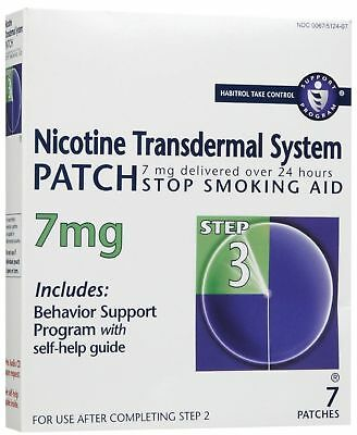 2 Boxes 14 Nicotine Transdermal System Step 3 Patches 7Mg Stop Smoking Exp1/2019