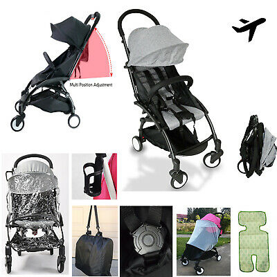 Compact Lightweight Baby Stroller Pram Easy Fold Travel Carry on Plane 4 Colour
