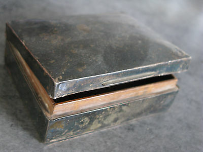 Vintage old wooden lined SOLID SILVER PILL BOX HALLMARKED possibly 1827 or older