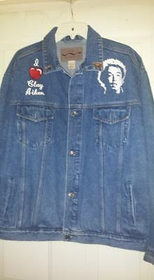 Clay Aiken Embroidered Jean Jacket with Collector Pins - One of a Kind Idol L