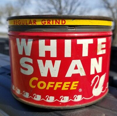 vintage WHITE SWAN Coffee can Fort Worth TX