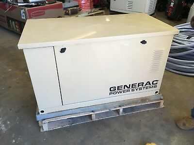 Generac 15 kW Used Natural Gas/ propane Generator With 100 Amp Auto Transfer Sw