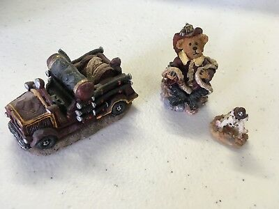 Boyds Bearly-Built Villages Town Volunteer Fire Station Accessory, 3 Piece Set
