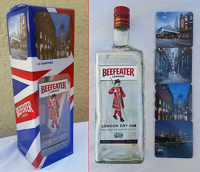 Beefeater Gin Coasters, Bottle & Packaging complete - distillery london dry