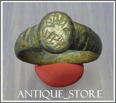 ** EAGLE WINGS ** Ancient Bronze Legionary Roman  Ring **RARE**