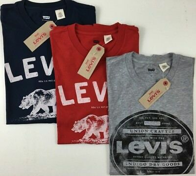 Levis T-Shirt Mens Graphic Tshirt Crew Neck Short Sleeve Tee Levi's Genuine