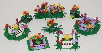 Friends Plants Red Rose Flowers X6 Build With Greens Lego New Bulk Lot City