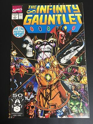 Infinity Gauntlet 1 ! Thanos 1st Print Avengers High Grade Signed by Jim Starlin