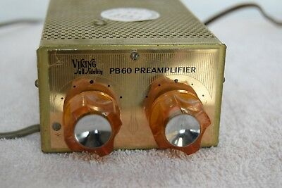 60s VIKING Tube Phono Mono Preamplifier Golden age Audio Famous Rock Star Owned