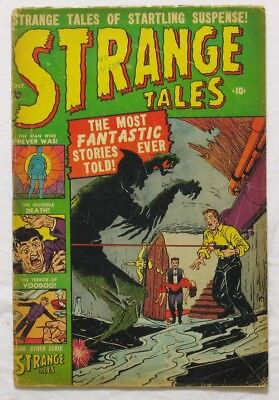 Strange Tales 3 nice-looking copy, pre comics code, Atomic bomb panels, Oct 1951
