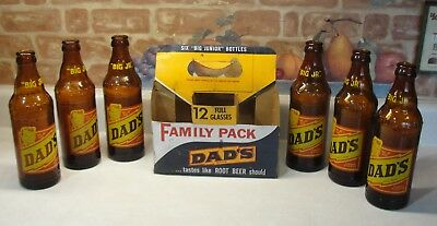 Vintage Cardboard 6 Pack Of 6 Dads Root Beer  Big Jr.bottles,soda,pop
