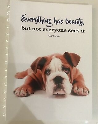 2019 year diary Dog  WITH Beauty QUOTE A5