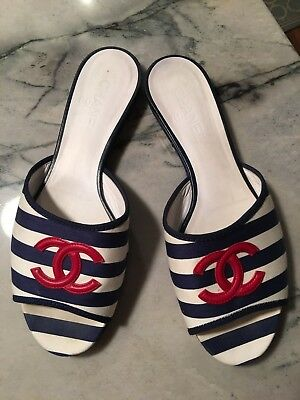 Women's Chanel Slides Size 41 Gently Used Condition Made In Italy 100% Authentic