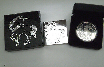 1994 Chinese Unicorn Silver Coin 10 Yuan Uncirculated 1 troy .999 Fine Silver