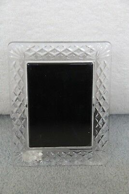 """Waterford LISMORE Crystal Photo Picture Frame 5 X 7"""""""