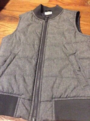 Boys Cat And Jack Gray Vest Size Small 6/7