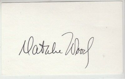 Natalie Wood Autograph On 4X6 Card And Color 8X10 Both Are Mint!!