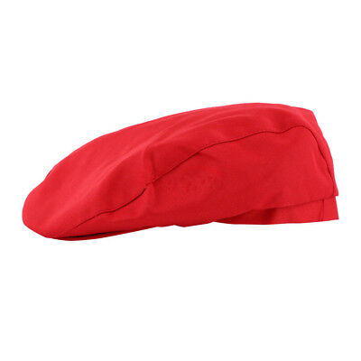 Chef Hat RED Beret cabbie style  design