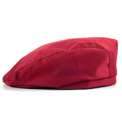 Chef Hat Wine RED Beret cabbie style  design