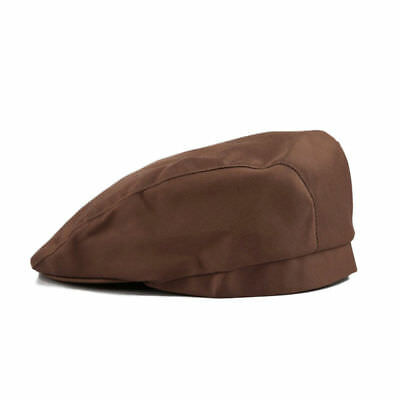 Chef Hat Dark Brown Beret cabbie style  design