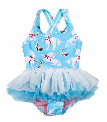 USA Toddler Kid Baby Girls Unicorn Cartoon Tutu Swimwear Swimsuit Bathing Bikini