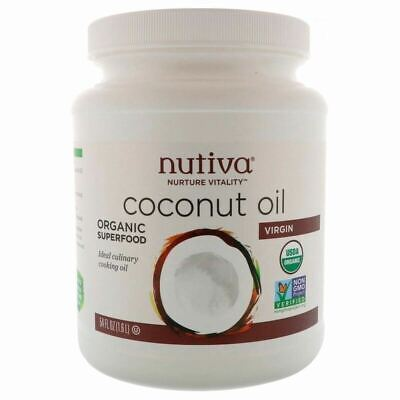 Nutiva - Organic Virgin Coconut Oil EXTRA LARGE 1.6 L 1600ml JAR - HUGE SAVING!