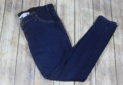Liz Lange Maternity Jeggings Jeans Womens Medium Side Panels Ankle Dark Wash