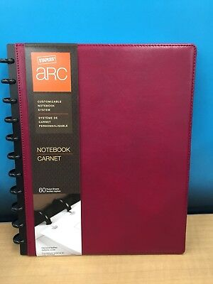 Staples ARC Customizable Notebook System Burgundy Measures 8.5x11 23242)