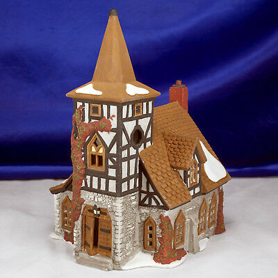 """Dickens Village Department 56 """"Old Michaelchurch"""" Church 1st Ed Complete In Box"""
