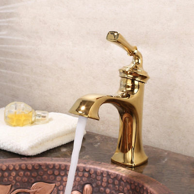 Vintage Classic Solid Brass Bathroom Single Hole Handle Sink Faucet Mixer Tap