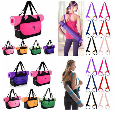 Waterproof Yoga Mat Carrier BagsStrap Yoga Sports Gym Fitness Bag Pouch