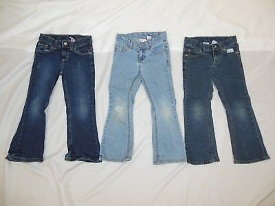 Lot of 3 girls size 5 Jeans good condition Used.