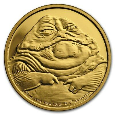 Star Wars Classic: Jabba the Hutt™ 1 /4 oz Gold Coin 2018 NEW RELEASE!!!