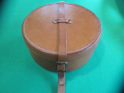 Antique Full Leather Collar Box/Case with carrying Strap