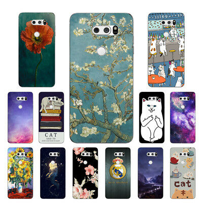 Soft TPU Silicone Case For LG V30 V30+ Protective Phone Back Cover Skins Cats