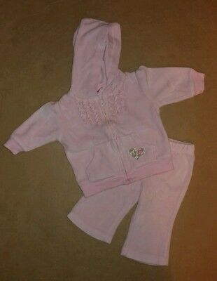 Girls Carter's Pink Velour Tracksuit Size 3months