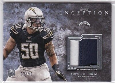 Manti Te'o 2013 Topps Inception, Rookie Patch Relics, 87/93