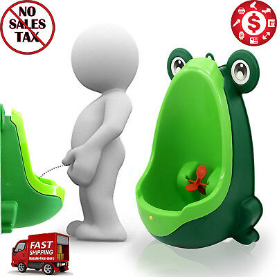 Frog POTTY TRAINING TOILET URINAL with Target Pee Trainer for Baby Boys Toddler