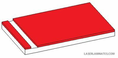 Label Laminate engraving material 300mm x 200mm Red/White Pack 3 LL1.3RW32